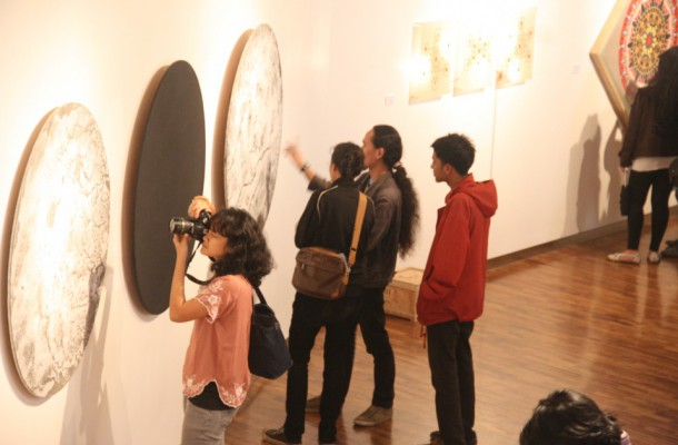 Suasana Pembukaan Pameran Report/Knowledge
