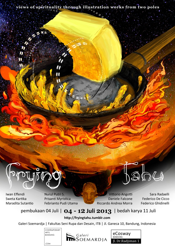 Frying Tahu : View of Spirituality Through Illustration Works from Two Poles