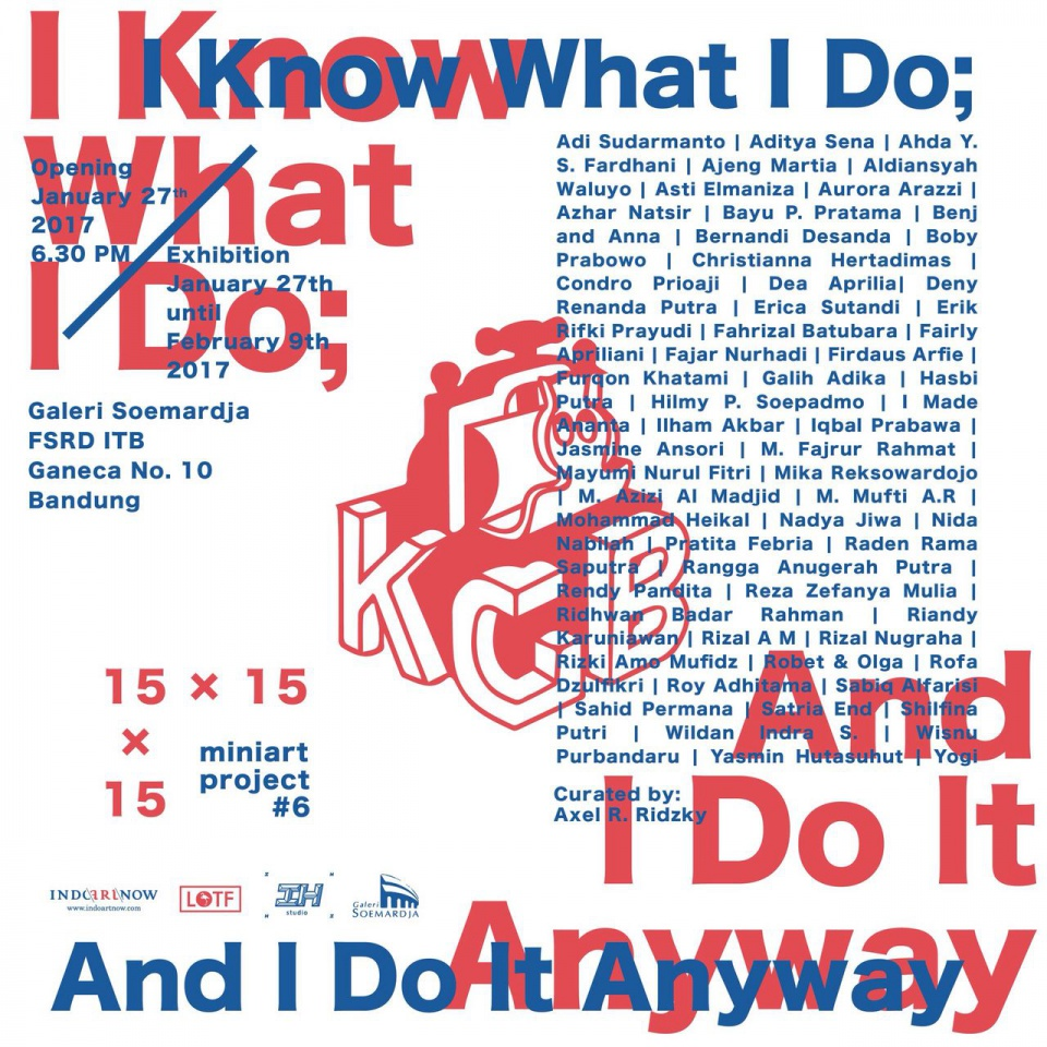 I know What I Do , And I Do it Anyway _ Mini Art Project #6 | 15 x 15 x 15